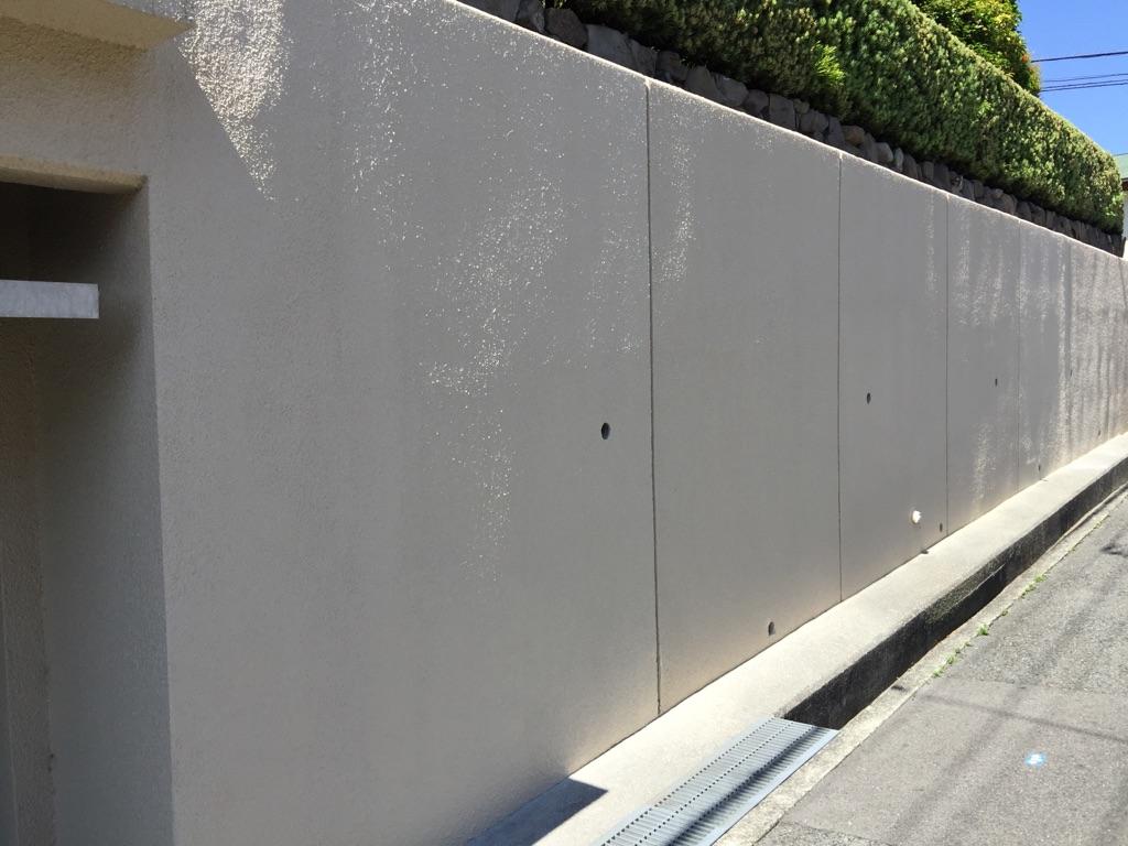 Y様邸 擁壁補修 塗装浮き 補修吹き 芦屋 西宮 芦屋でリフォーム リノベーションの事ならrirsiaへ