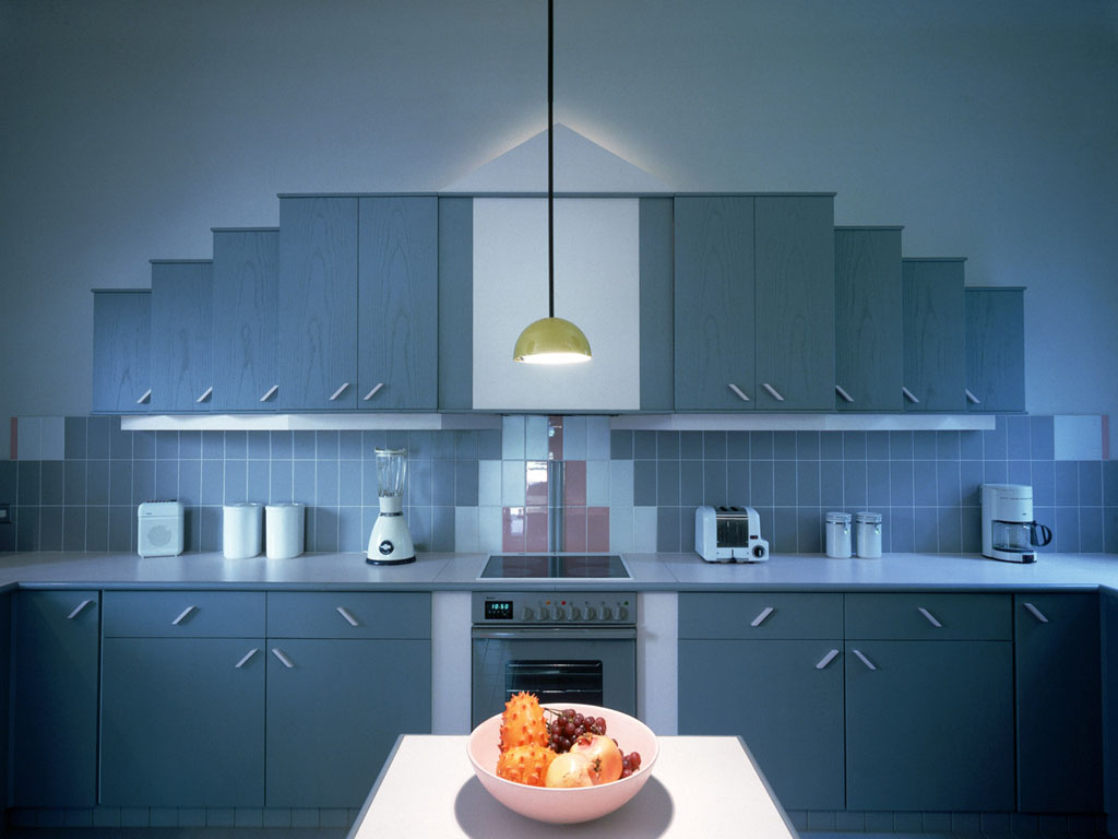 A kitchen at the Sharpspace studio comprising of two buildings completely redesigned by Bob McClaren and David Field.